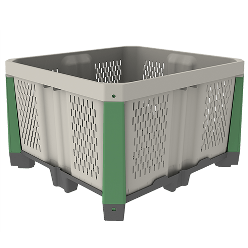 MacroPlastics Hybrid 44P - Cajones Agrícolas de Plástico para la Cosecha a California (CA), Kentucky (KY), Washington (WA), México y el Resto del Mundo