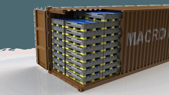 Aplicações - Caixotes automotivos em engradado de metal