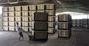 hybrid 1012 & 1212 Bins in Warehouse
