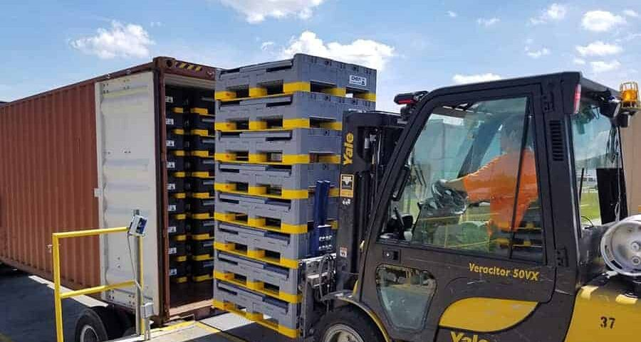 90% of Electric Vehicle component parts will go in Plastic Returnable Container
