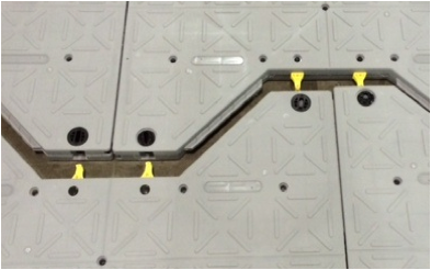 Parts installed in I-Trac Panel